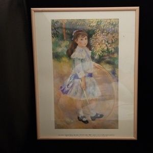 """August Renoir 1972 print of """"Girl with a hoop"""""""